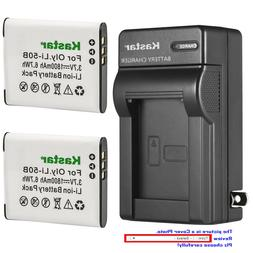 Kastar Battery Wall Charger for Olympus Li-50B LI-50C & SP-7