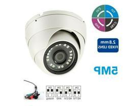 BNC 5MP 2.8MM CCTV AHD TVI CVI Hybrid Security Dome Camera