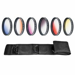 Camera Filters - 77mm Graduated Color Multicoated 6pcs Filte