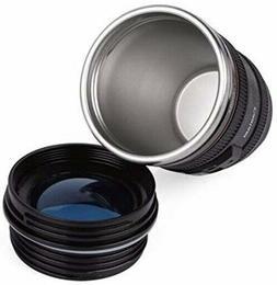 Camera Lens Coffee Mug Cup Tea Travel Thermos Cup 12 oz