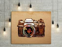Camera Wall Art, Photographer Gift, Photo Decor, Camera Prin