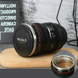 EF24-105 Camera Lens Cup Coffee Travel Mug Stainless Steel L