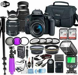 Canon EOS Rebel T7i DSLR Camera Bundle with  Lenses + TTL Fl