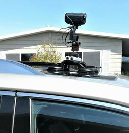 Car Roof Video Camera Mount + Wireless Remote Control 360°