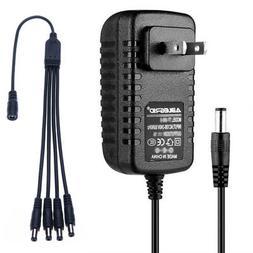CCTV Security Camera Power Supply Adapter - w/ 4-way splitte