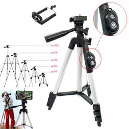 Cell Phone Holder Mount Camera Tripod Stand Bluetooth Remote