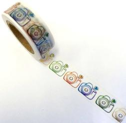 Colorful Camera Photography Washi Tape Papercraft Planner Su