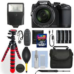 Nikon Coolpix B500 16 MP Digital Camera Black + 32GB Deluxe
