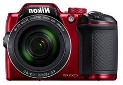 Nikon Coolpix B600 16MP Digital Camera 60x Optical Zoom Red