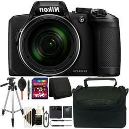 Nikon Coolpix B600 16MP Digital Camera Black with 64GB Delux