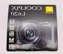 Nikon COOLPIX L620 18.1MP 14x Zoom Full HD FHD Digital Camer