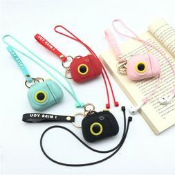 creative 3d camera strap earphone silicone cover