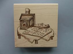 CREATIVE IMAGES RUBBER STAMPS CISTAMPS VINTAGE CAMERA NEW wo
