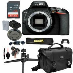 Nikon D3500 Digital SLR DSLR Camera Body Black + 13pc Bundle
