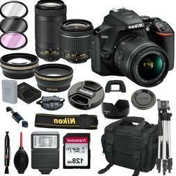 Nikon D3500 DSLR Camera w/ AF-P DX 18-55mm & 70-300mm Lens 1