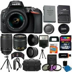 Nikon D5600 Black DSLR Camera + 18-55mm VR + 70-300mm AF-P +