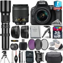 Nikon D5600 DSLR Camera + 18-55mm VR + 500mm Lens + Extra Ba