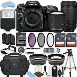 Nikon D7500 20.9 MP DSLR Camera  with  Lenses + Accessory Bu