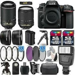 Nikon D7500 4K Digital SLR Camera W 18-140mm & 55-200 mm VR