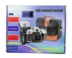 Sima Deluxe 35mm Camera Set with Carry Bag and Zoom Flash FM