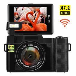 Digital Camera Vlogging 24MP Ultra HD 2.7K WiFi YouTube Came