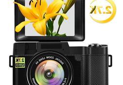 Digital Camera Vlogging Camera for YouTube with Flip Screen