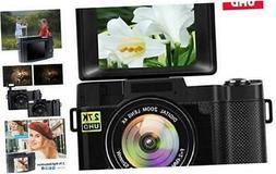Digital Camera Vlogging Camera with Flip Screen for YouTube