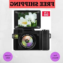 Digital Camera Vlogging with Flip Screen For YouTube 24MP 3.