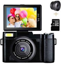 Digital Full HD 1080P Video Camera 3.0Inch Flip Screen Vlogg