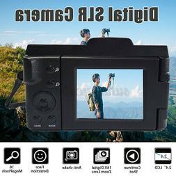 Digital SLR Camera 2.4'' TFT LCD Camcorder 16MP 1080P 16X Zo