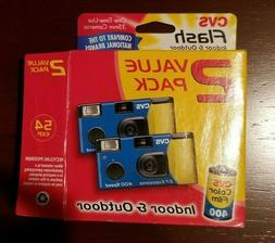 CVS Disposable Camera 2 Pack 35mm  expired open box not used