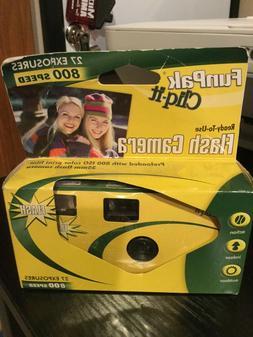 disposable camera fun pack new 27 exposures
