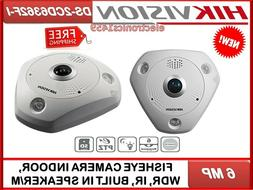 DS-2CD6362F I FISHEYE CAMERA 6MP. INDOOR, WDR, IR, BUILT IN