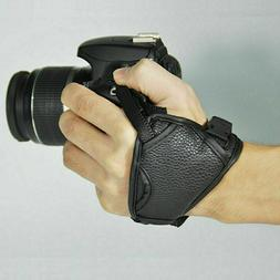 DSLR Cameras Leather Hand Grip Wrist Strap For Nikons Pentax