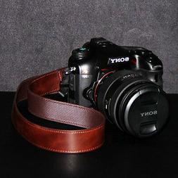 DSLR SLR Camera Neck Shoulder Leather Strap for Canon Sony n