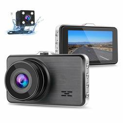 Dual Dash Cam Front and Rear, 1080P Full HD Car DVR Dashboar