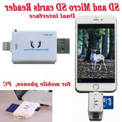 Kolsol Dual-use Trail Game Camera SD Card Reader for IOS/And