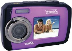 Coleman Duo 14 MP Purple Waterproof Digital Camera with Dual