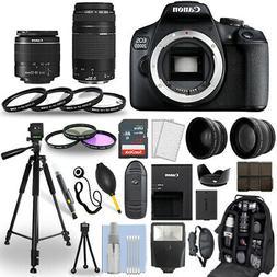 Canon EOS 2000D / Rebel T7 DSLR Camera + 18-55mm + 70-300mm