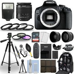 Canon EOS 2000D / Rebel T7 DSLR Camera + 18-55mm Lens+ 30 Pi