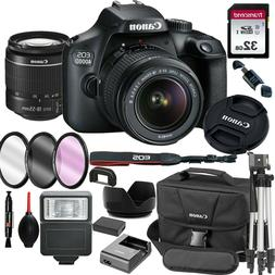 Canon EOS 4000D / Rebel T100 SLR Camera+ 18-55mm Lens+ 18 Pi