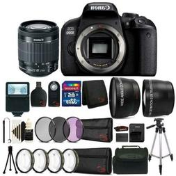 Canon EOS 800D / T7i 24.2MP DSLR Camera with 18-55mm Lens Al
