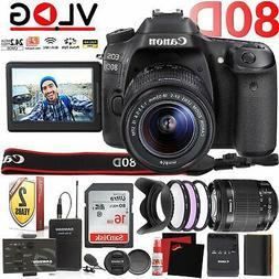 Canon EOS 80D DSLR Camera +Flip Screen and 18-55mm Lens and