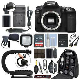 Canon EOS 90D 32.5MP Digital SLR Camera Body + 64GB Pro Vide