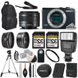 Canon EOS M100 Mirrorless Digital SLR Camera - 3 Lens Kit +