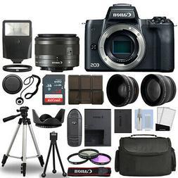 Canon EOS M50 Camera Body Black + 3 Lens Kit 15-45mm IS STM+