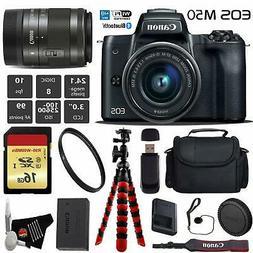 Canon EOS M50 Mirrorless Digital Camera with 15-45mm Lens Pr