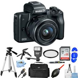 Canon EOS M50 Mirrorless Digital Camera with 15-45mm Lens  F