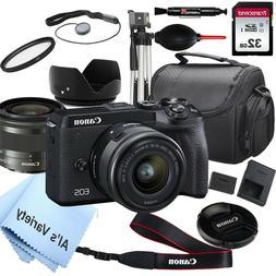 Canon EOS M6 Mark II Mirrorless Digital Camera with 15-45mm