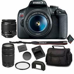 Canon EOS Rebel T7 DSLR Camera Bundle +2 Lenses  + UV Fil